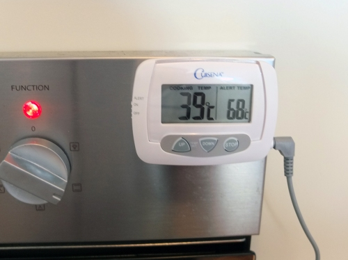11. Oven at 39 Degrees