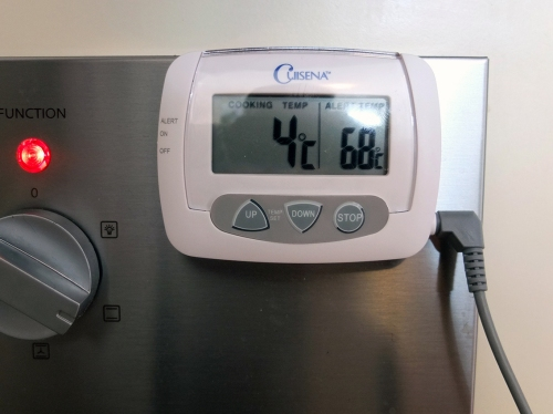 7. Oven at 4 Degrees