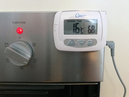 9. Oven at 16 Degrees