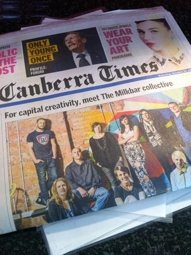 Canberra Times Front Page