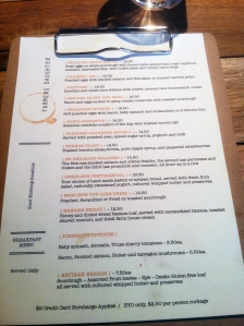 Farmer's Daughter Menu