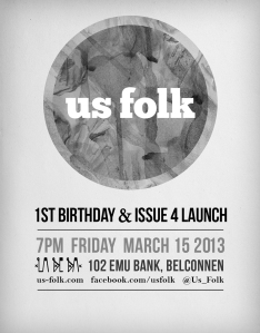 Us Folkc - Issue 4 Launch Poster