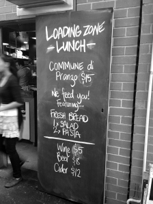 Loading Zone - Menu