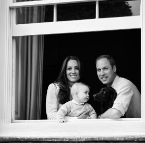 Will, Kate & George BW