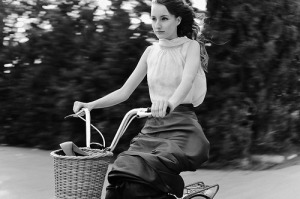 Girl-on-Bike-2-BW