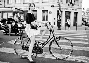 Girl-on-Bike-BW